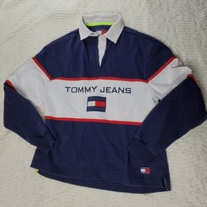 Tommy Jeans Size S Hilfiger Rugby Shirt Logo